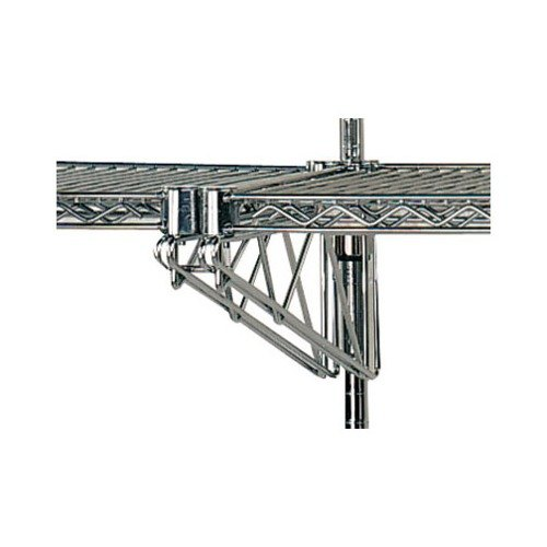 "Advance Tabco AABM-14 14"" Adjustable Double Mid-Mounted Bracket for Wall Mounted Shelving Systems"
