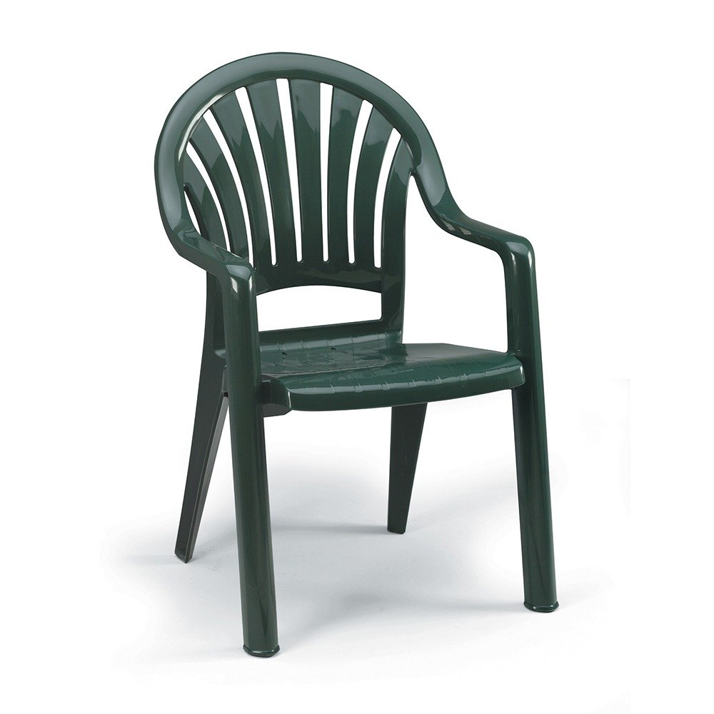 Grosfillex Pacific Fanback Stacking Resin Armchair