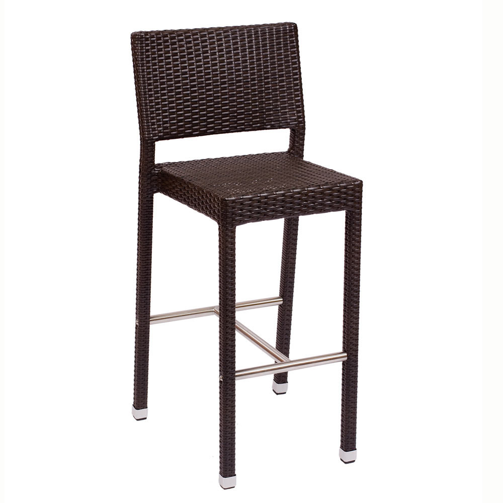Counter Height Wicker Chairs : BFM Seating Monterey PH500BJV Outdoor Wicker Bar Height Chair