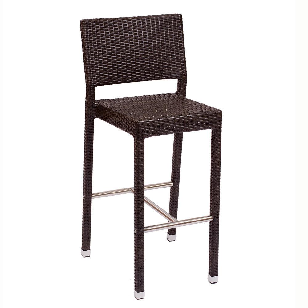 BFM Seating Monterey PH500BJV Outdoor Wicker Bar Height Chair