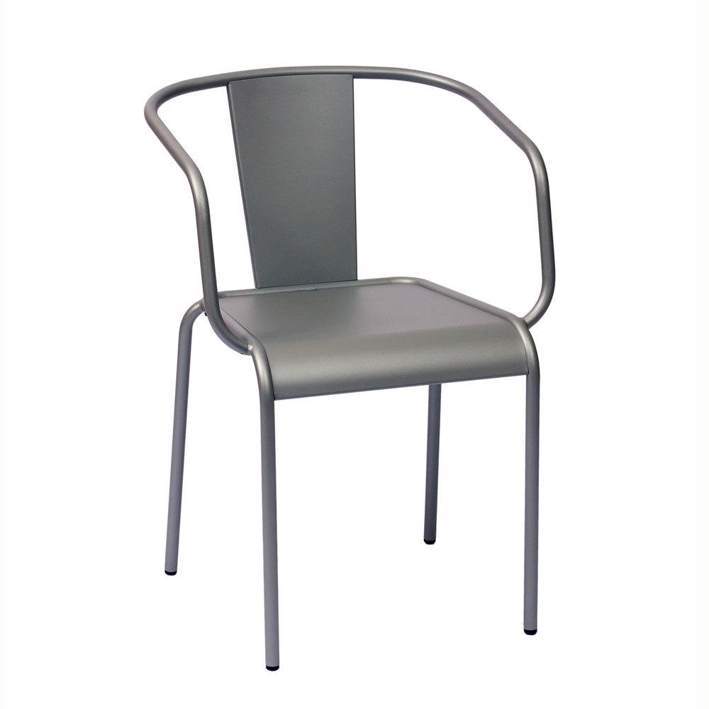 BFM Seating Tara X DV680TS Stackable Outdoor Chair with Arms