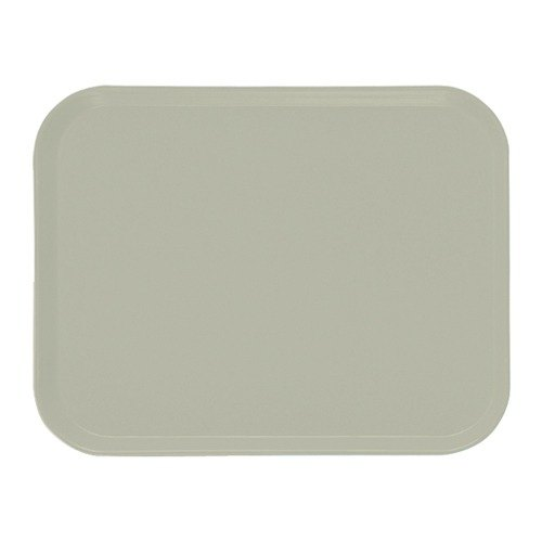 "Cambro 3242101 12 1/2"" x 16 1/2"" (31,9 x 41,9 cm) Rectangular Metric Antique Parchment Customizable Fiberglass Camtray - 12/Case"