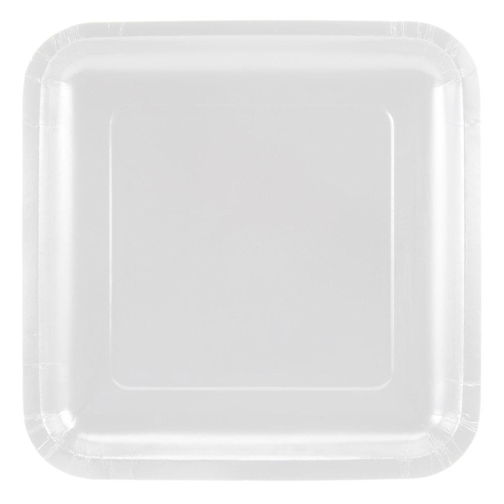 Creative Converting 463272 9quot White Square Paper Plate  sc 1 st  Castrophotos & Paper Plates Square - Castrophotos