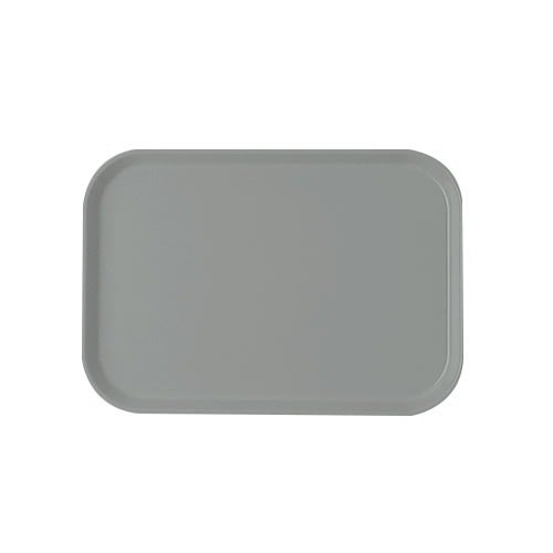 "Cambro 1622107 16"" x 22"" Rectangular Pearl Gray Customizable Fiberglass Camtray - 12/Case"