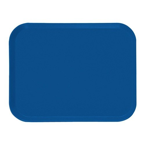 "Cambro 1318123 12 5/8"" x 17 3/4"" x 11/16"" Rectangular Amazon Blue Customizable Fiberglass Camtray - 12/Case"
