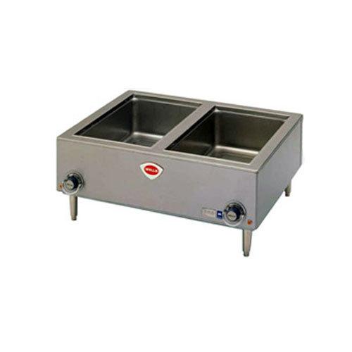 "Wells TMPT 12"" x 20"" Two Pan Countertop Food Warmer - 208/240V Main Image 1"