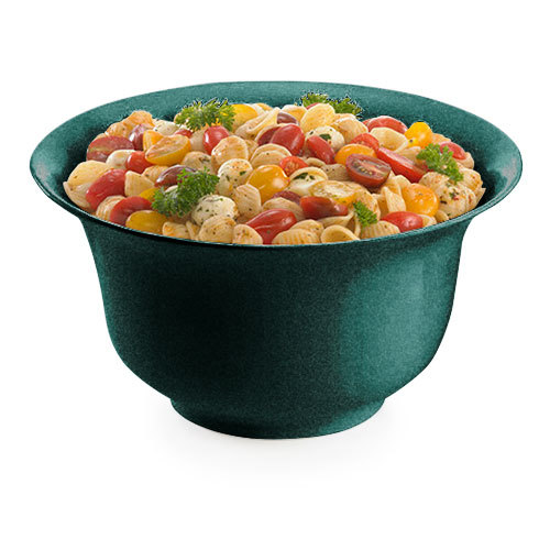 Tablecraft CW3130HGNS 3.25 Qt. Hunter Green with White Speckle Cast Aluminum Tulip Salad Bowl