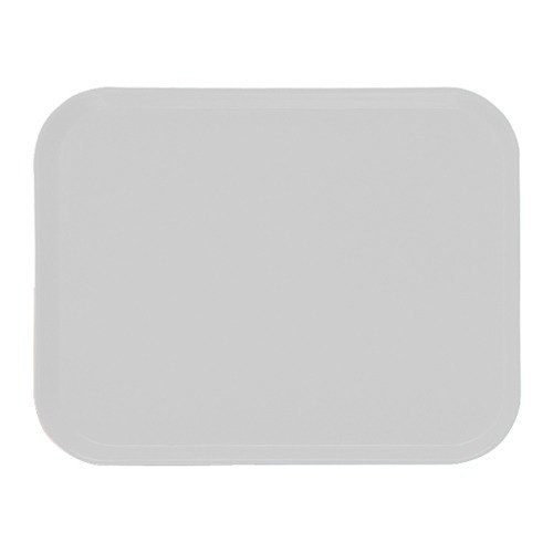"Cambro 16225148 16 1/2"" x 22 1/2"" Rectangular White Customizable Fiberglass Camtray - 12/Case"