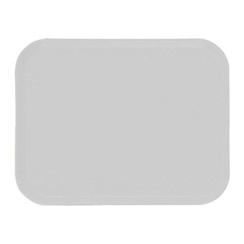 "Cambro 3242148 12 1/2"" x 16 1/2"" (31,9 x 41,9 cm) Rectangular Metric White Customizable Fiberglass Camtray - 12/Case"