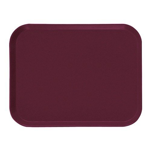 "Cambro 1520522 15"" x 20 1/4"" Rectangular Burgundy Wine Customizable Fiberglass Camtray - 12/Case"