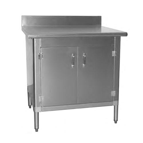 """Eagle Group T3048BA-BS-HGD 30"""" x 48"""" Work Table with Hinged Doors - Knocked Down"""
