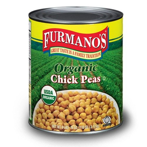 Furmano's Organic Chick Peas (Garbanzo Beans) #10 Can