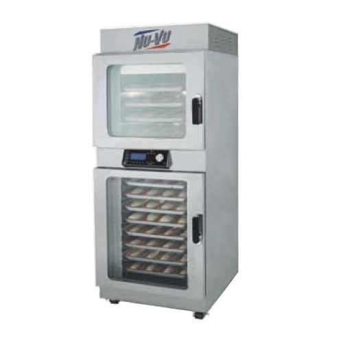 NU-VU OP-4/8A Double Deck Electric Oven Proofer Combo with Programmable Controls - 208V, 3 Phase, 7.2 kW
