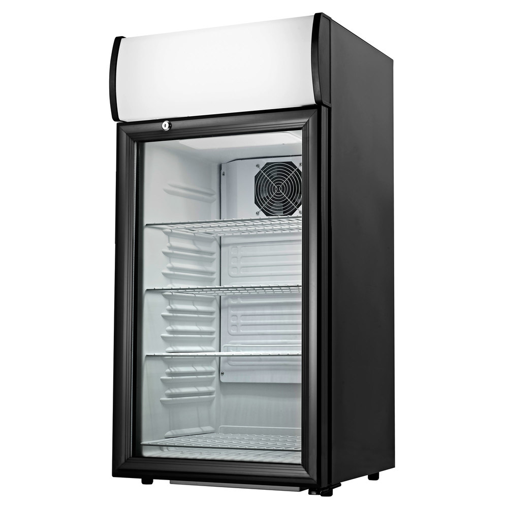 Cecilware Ctr2 68ld Black Countertop Display Refrigerator With Swing Door 2 7 Cu Ft