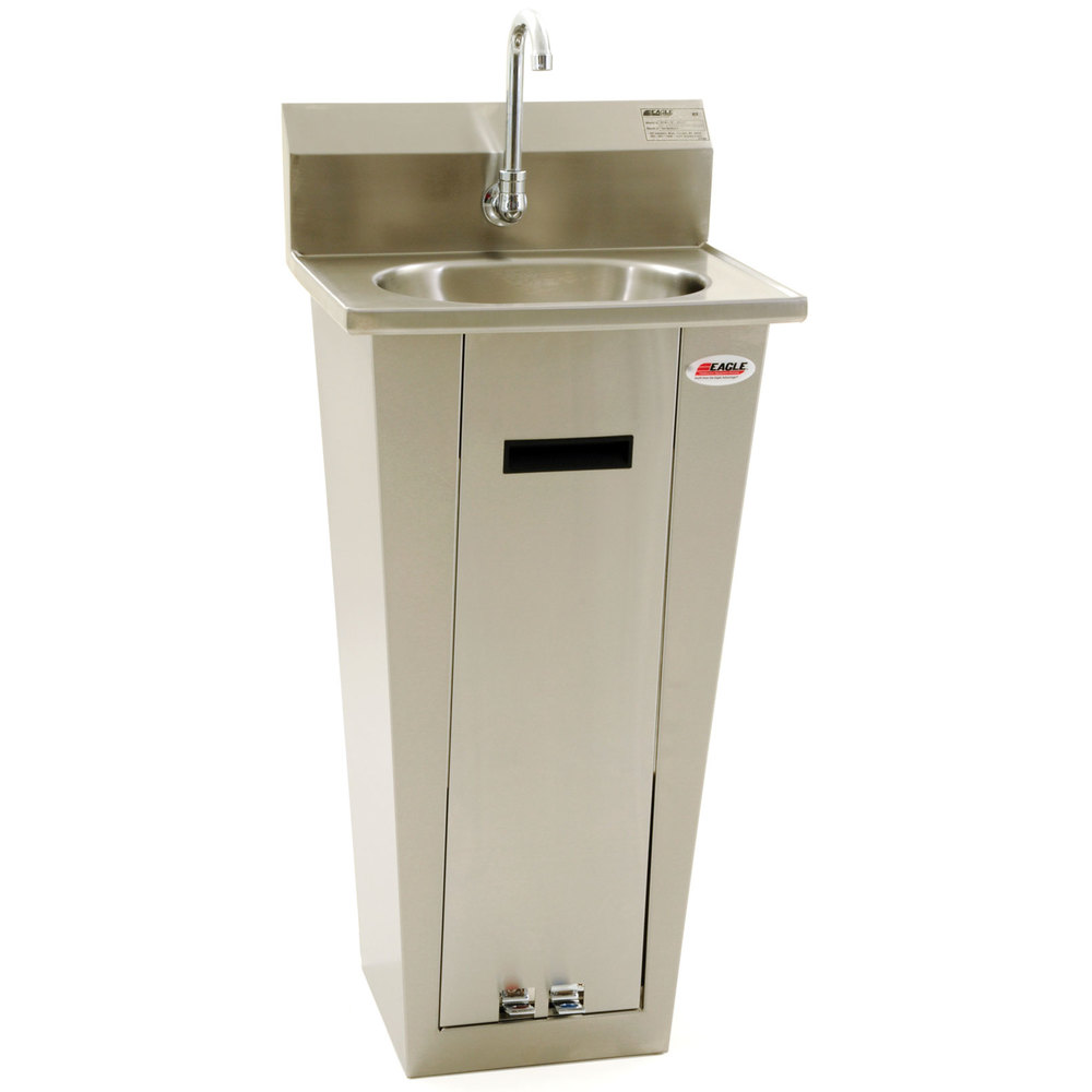 Eagle Group Hsa 10 Fa P Foot Operated Pedestal Hand Sink