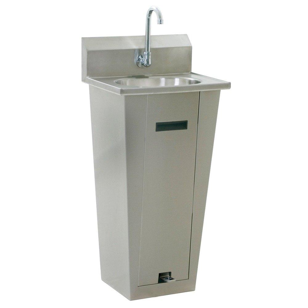 Pedestal Sink Trap : ... Pedestal Hand Sink with Gooseneck, Single Foot Pedal, P-Trap, Tail