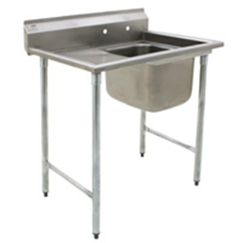 Left Drainboard Eagle Group 314-16-1-18 One Compartment Stainless Steel Commercial Sink with One Drainboard - 44 7/8""