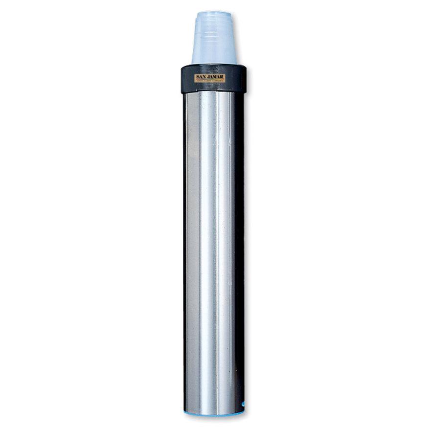 San Jamar C3400EH Stainless Steel Surface Mount Horizontal 12 - 24 oz. Elevator Cup Dispenser
