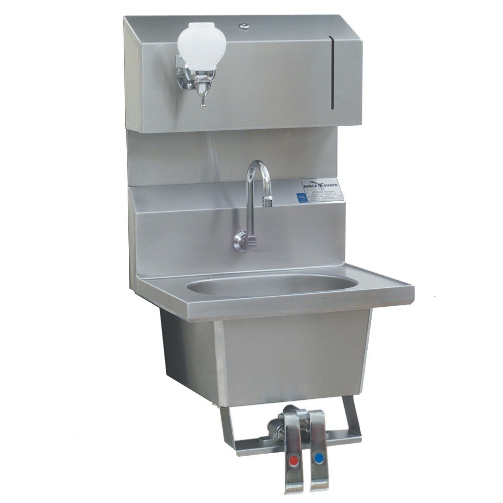 Eagle Group HSA-10-FDPK Knee Operated Wall Mount Hand Sink with ...