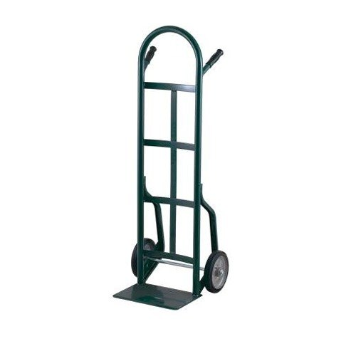 "Harper 40T85 Continuous Dual Pin Handle 800 lb. Steel Hand Truck with 8"" x 2"" Solid Rubber Wheels"