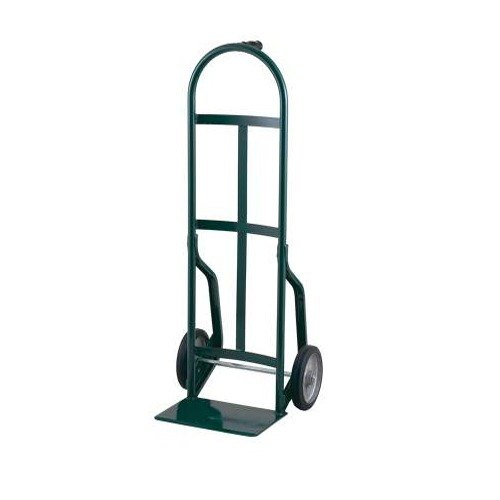 """Harper 46T17 Continuous Single Pin Handle 800 lb. Steel Hand Truck with 10"""" x 3 1/2"""" Pneumatic Wheels"""