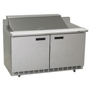 "Delfield ST4464N-18M 64"" 2 Door Mega Top Refrigerated Sandwich Prep Table with 4"" Backsplash"