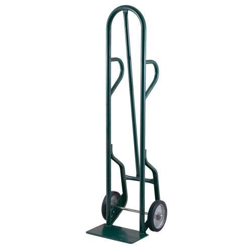 "Harper 34T14 Dual Loop Handle 800 lb. Tall Steel Hand Truck with 8"" x 2 1/4"" Solid Rubber Wheels"