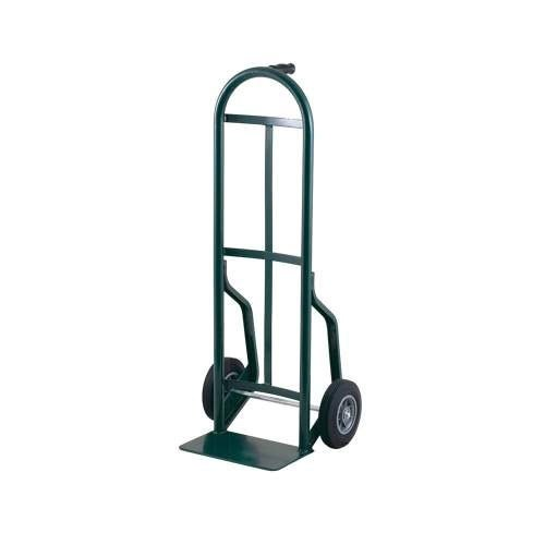 "Harper 54T14 Continuous Single Pin Handle 600 lb. Steel Hand Truck with 8"" x 2 1/4"" Solid Rubber Wheels"