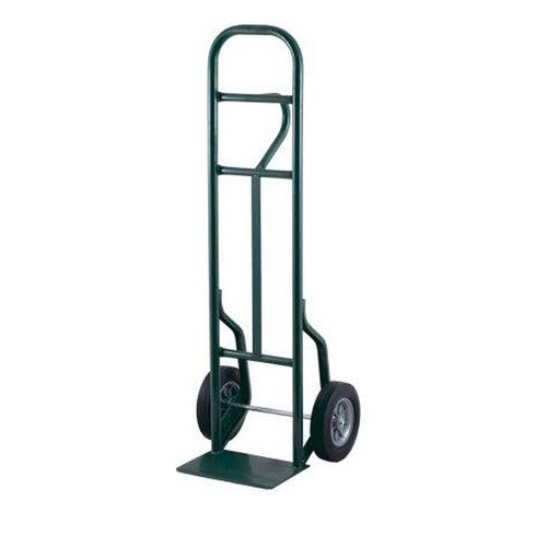 "Harper LEO5877 Loop Handle 800 lb. Tall Steel Hand Truck with 8"" x 1 5/8"" Mold-On Rubber Wheels"
