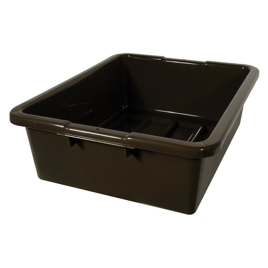 rubbermaid 92 brown 21 x 17 7 plastic bus tub - Rubbermaid Tubs