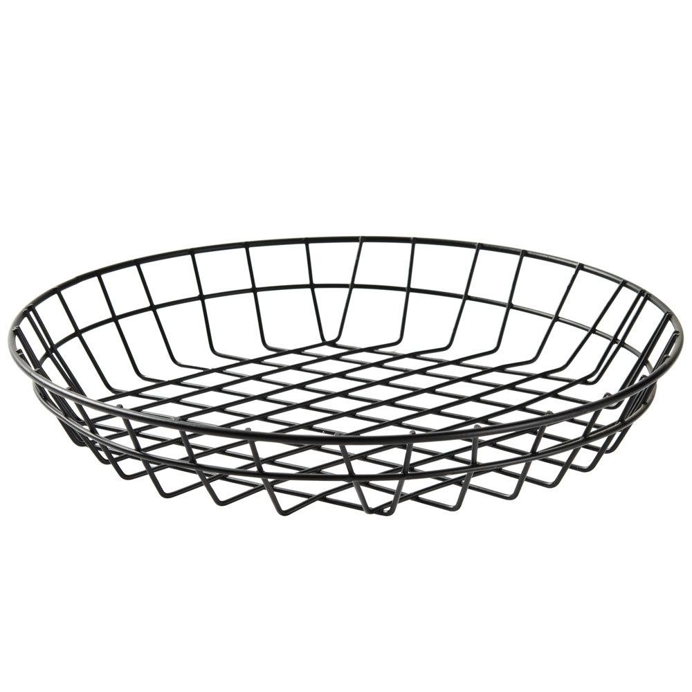 american metalcraft wib120 black round wire basket 12 x 2. Black Bedroom Furniture Sets. Home Design Ideas