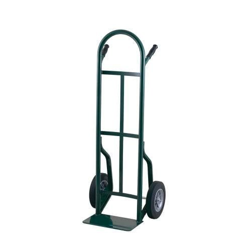 "Harper 53T16 Continuous Dual Pin Handle 600 lb. Steel Hand Truck with 10"" x 3 1/2"" Pneumatic Wheels"