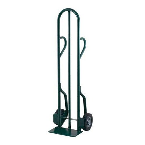 "Harper CTD14 Dual Loop Handle 600 lb. Tall Steel Hand Truck with 8"" x 2 1/4"" Solid Rubber Wheels"