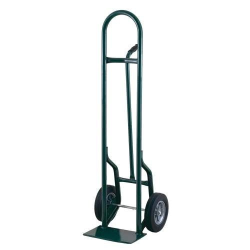"Harper 35T17 Single Pin Handle 800 lb. Tall Steel Hand Truck with 10"" x 3 1/2"" Pneumatic Wheels"
