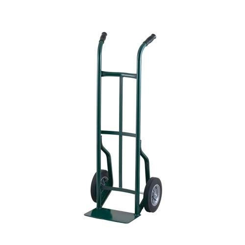 """Harper 50T14 Dual Handle 600 lb. Steel Hand Truck with 8"""" x 2 1/4"""" Solid Rubber Wheels"""