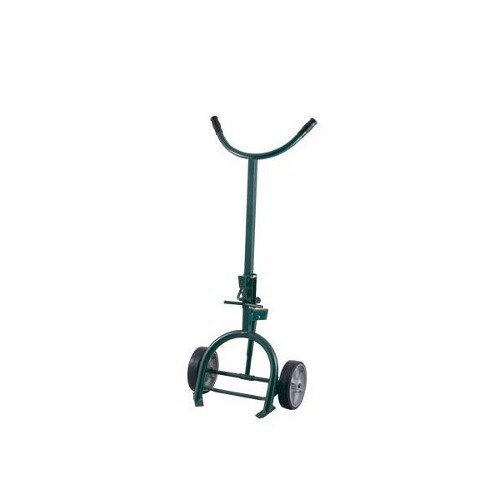 """Harper 7699 1200 lb. Drum Truck with Spring Loaded Swing Axle and 10"""" x 2 1/2"""" Mold-On Rubber Wheels"""