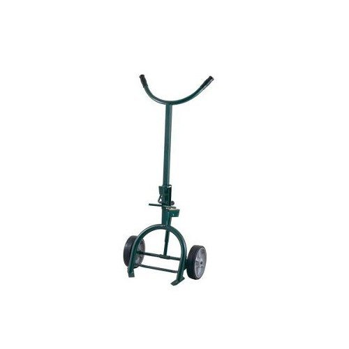 """Harper 76A59 1200 lb. Drum Truck with Spring Loaded Swing Axle, Universal Chime Hook, and 10"""" x 2 1/2"""" Mold-On Rubber Wheels"""