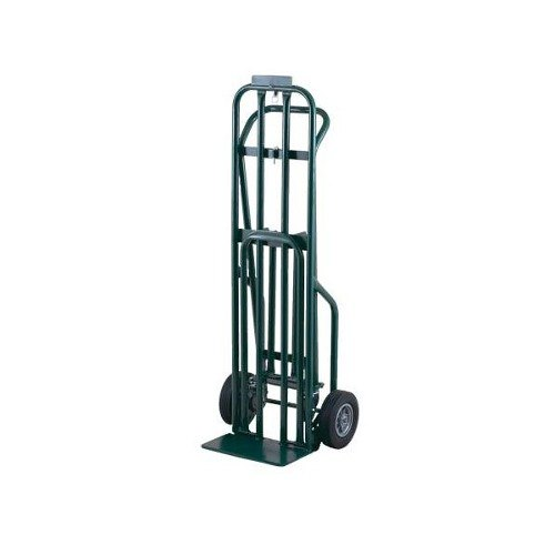 """Harper DCT1446 3-Position 800 lb. Convertible Hand / Platform Truck with 8"""" x 2 1/4"""" Solid Rubber Wheels and 3"""" Urethane Casters"""