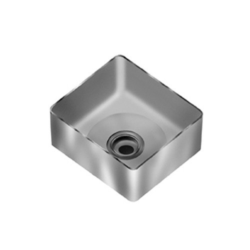 """Eagle Group FNWNF-20.5-20.5-8-1 Stainless Steel 20 1/2"""" x 20 1/2"""" Fabricated Straight Wall Weld In Sink Bowl - 8"""" Deep"""