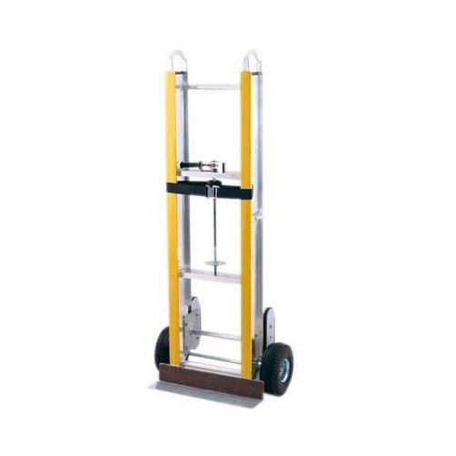 """Harper EA6667 800 lb. Aluminum 66"""" Appliance Truck with Ratchet and 6"""" x 2"""" Mold-On Rubber Wheels"""