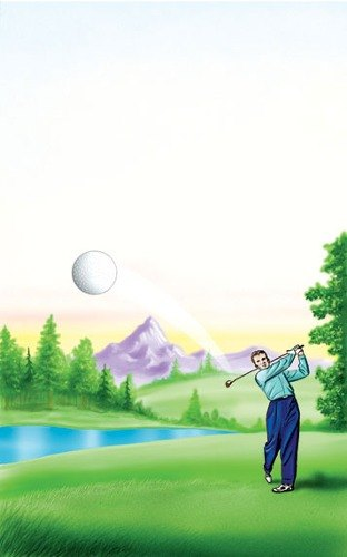 """8 1/2"""" x 14"""" Menu Paper - Country Club Themed Golf Design Cover - 100/Pack"""