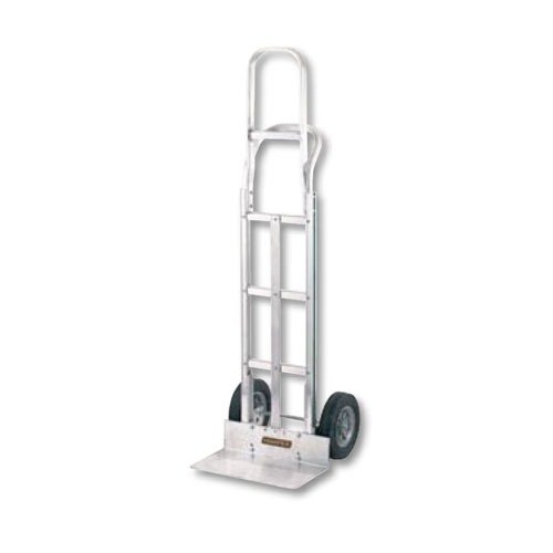 """Harper G3CK60T G-Series Continuous Handle 400 lb. Aluminum Hand Truck with 10"""" x 2 1/2"""" Solid Rubber Wheels"""
