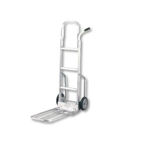 """Harper MDA77MG30 M-Series Dual Handle 450 lb. Aluminum Hand Truck with 8"""" x 1 5/8"""" Mold-On Rubber Wheels"""