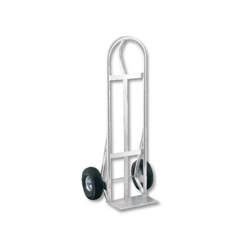 "Harper AK5286 Loop Handle 500 lb. Aluminum Hand Truck with 10"" x 2"" Solid Rubber Wheels"