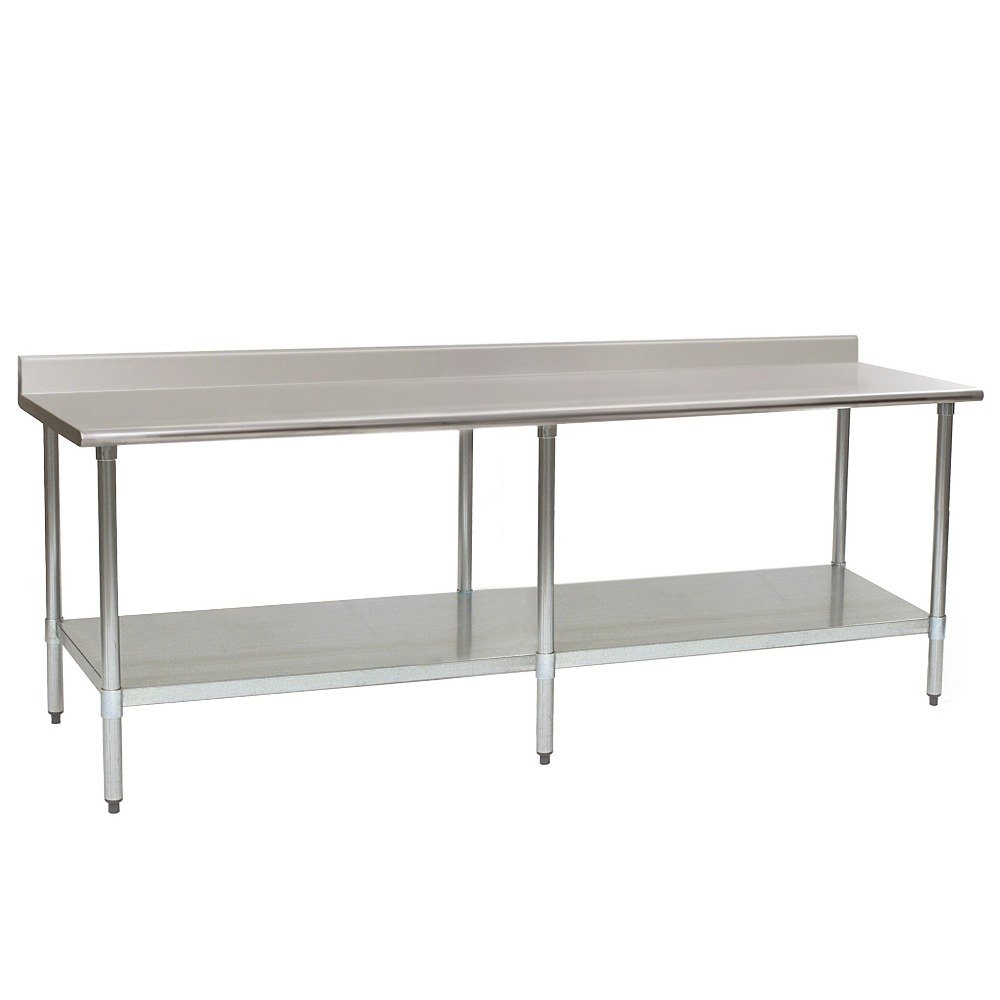 stainless steel work table with undershelf main picture - Stainless Steel Work Table With Backsplash
