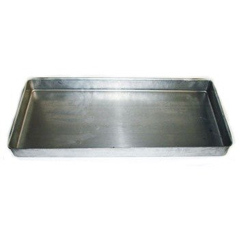 """True 912540 24 1/2"""" Metal Drain Pan with Hole"""