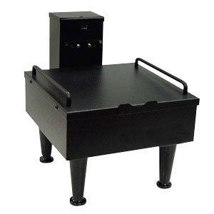 "Bunn 27825.0003 Soft Heat Black Single Server Docking Station with 4"" Adjustable Legs - 120V"