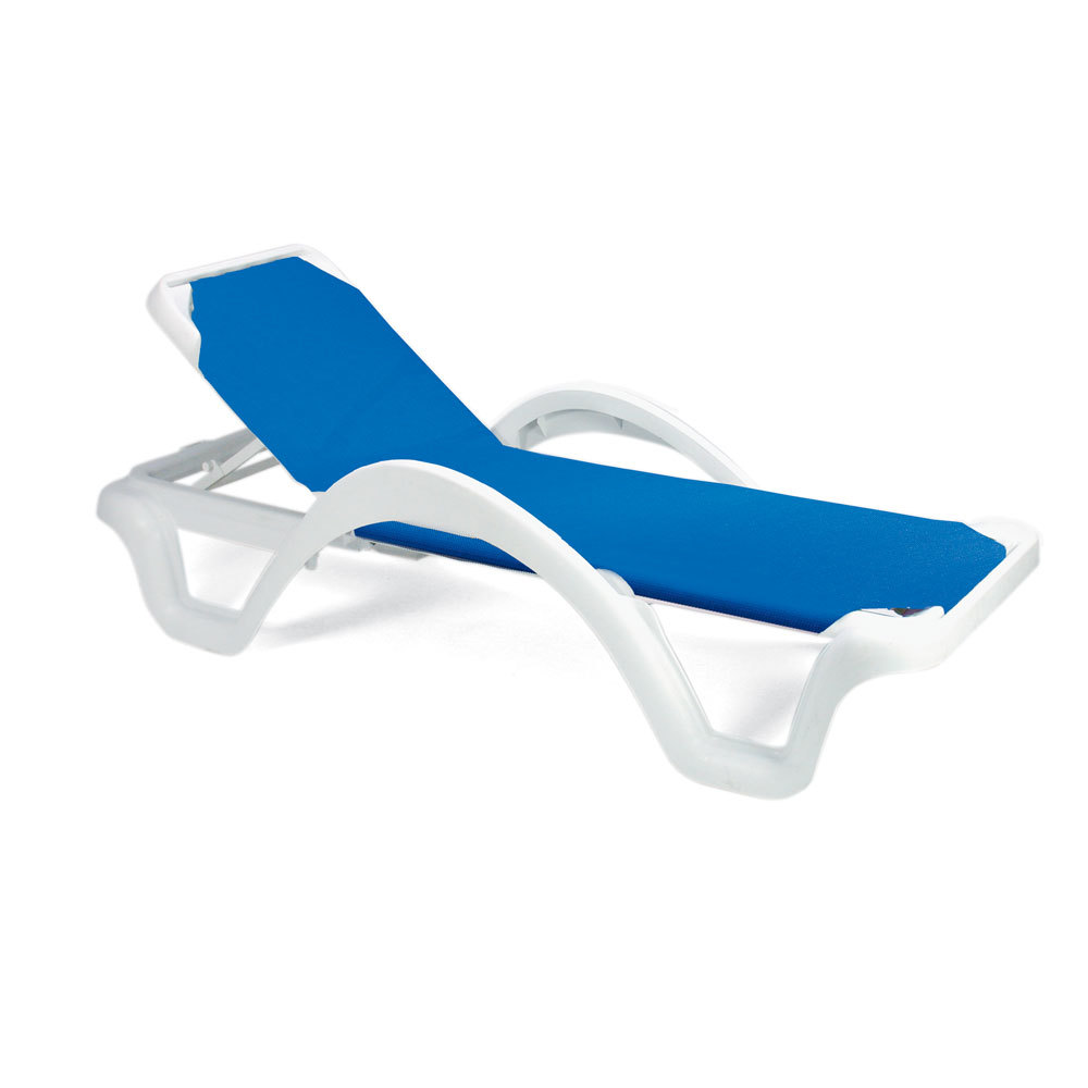 Grosfillex 99202006 us202006 catalina white blue - Grosfillex chaise longue ...