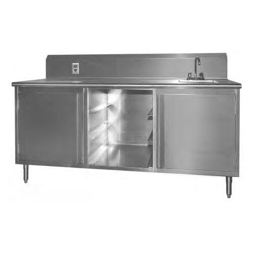 """Sink on Right Eagle Group BEV30144SE-10BS Beverage Table - 144"""""""