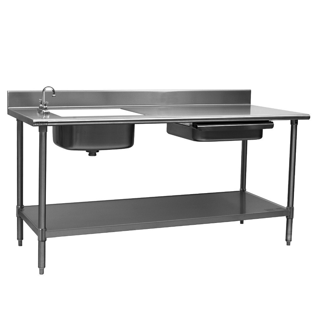 Stainless Sink Table : Eagle Group PT 3084 Stainless Steel Prep Table with Sink, Drawer ...
